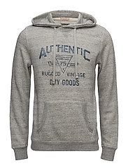 JJVPEET SWEAT HOOD - LIGHT GREY MELANGE