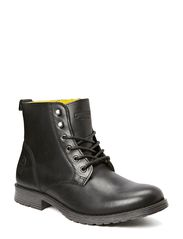 JJ CRUST LEATHER BOOT ORG - Black