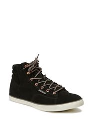JJ CARDIFF SUEDE HIGH TOP WARM CORE - Black