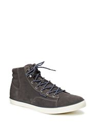 JJ CARDIFF SUEDE HIGH TOP WARM CORE - Pewter