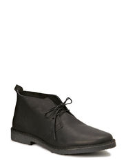 JJ GOBI HEAVY LEATHER DESERT BOOT PRM - Black