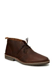 JJ GOBI HEAVY LEATHER DESERT BOOT PRM - Brown Stone