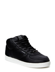 JJDUNC LEATHER MID SNEAKER BLACK - Black