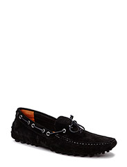 JJCANNES SUEDE CAR SHOE BLACK - Black