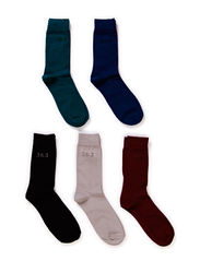 JJFINE 5-PACK SOCK - Deep Teal