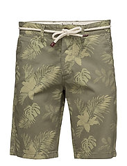 JJIFLOWER CHINO SHORTS MID AKM 295 - DEEP LICHEN GREEN