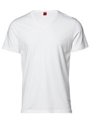 Basic v-neck tee - white