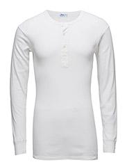 Original longsleeve buttons - WHITE