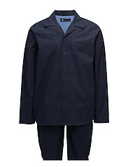 JBS, pajama button down - NAVY