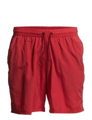 Badeshorts m/inderfoer - red