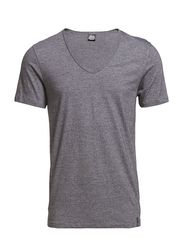 V-neck Black Label - greymelange