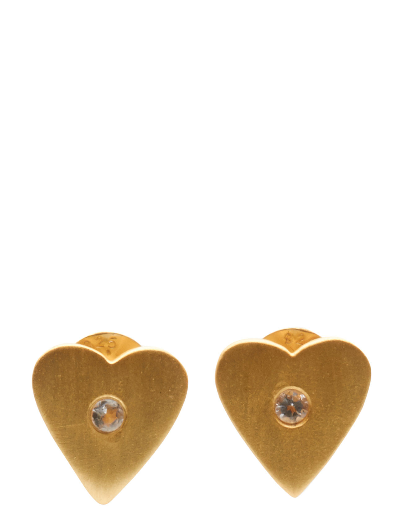 Earrings Simple Heart Jewlscph Smykker til Kvinder i