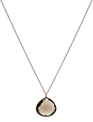 Necklace GRACIOUS - SMOKY TOPAS