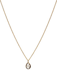 Necklace PURE DROP - SMOKY TOPAS