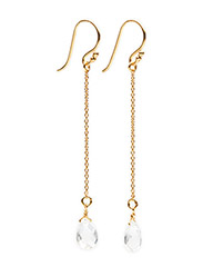 Earrings RAIN DROP - WHITE TOPAZ