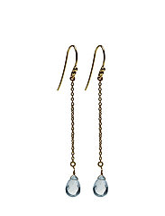 Rain Drop Earrings - BLUE TOPAZ