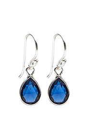 Earrings PURE DROP - BLUE CORUNDUM