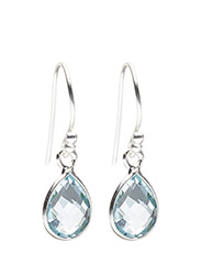 Earrings PURE DROP - BLUE TOPAS