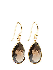 Earrings GODDESS EAR - SMOKY TOPAS