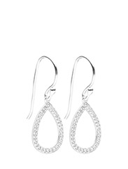 Earrings SOLITAIRE - WHITE TOPAZ