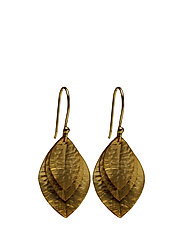 Mini Triple Leaves Earrings - GOLD