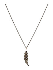 Necklace FEATHER - SILVER