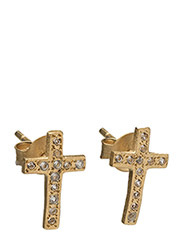 Faith Studs - WHITE TOPAZ