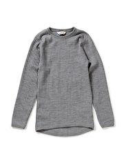 Shirt l.s. basic - Lt.greymel