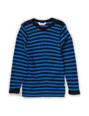 Bluse langt  - Sh.Blue/Na