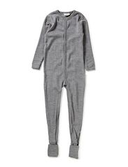 Nightsuit 2in1 foot Basic - Lt.greymel