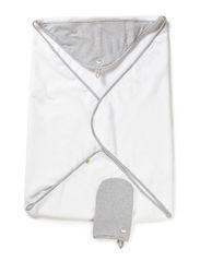 Wrap towel - Greym/whit