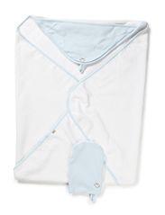 Wrap towel - Lt.blue/wh