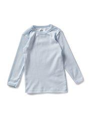 Blouse w/long sleeves - Light blue