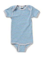 Amk. Body short sleeve - Blue/Greym