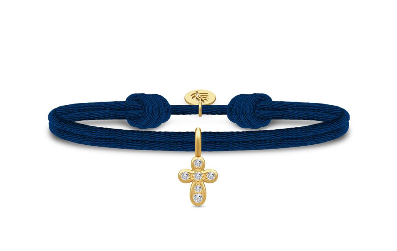 Julie Sandlau Life satin Bracelet - Gold/Cubiz Zirconia