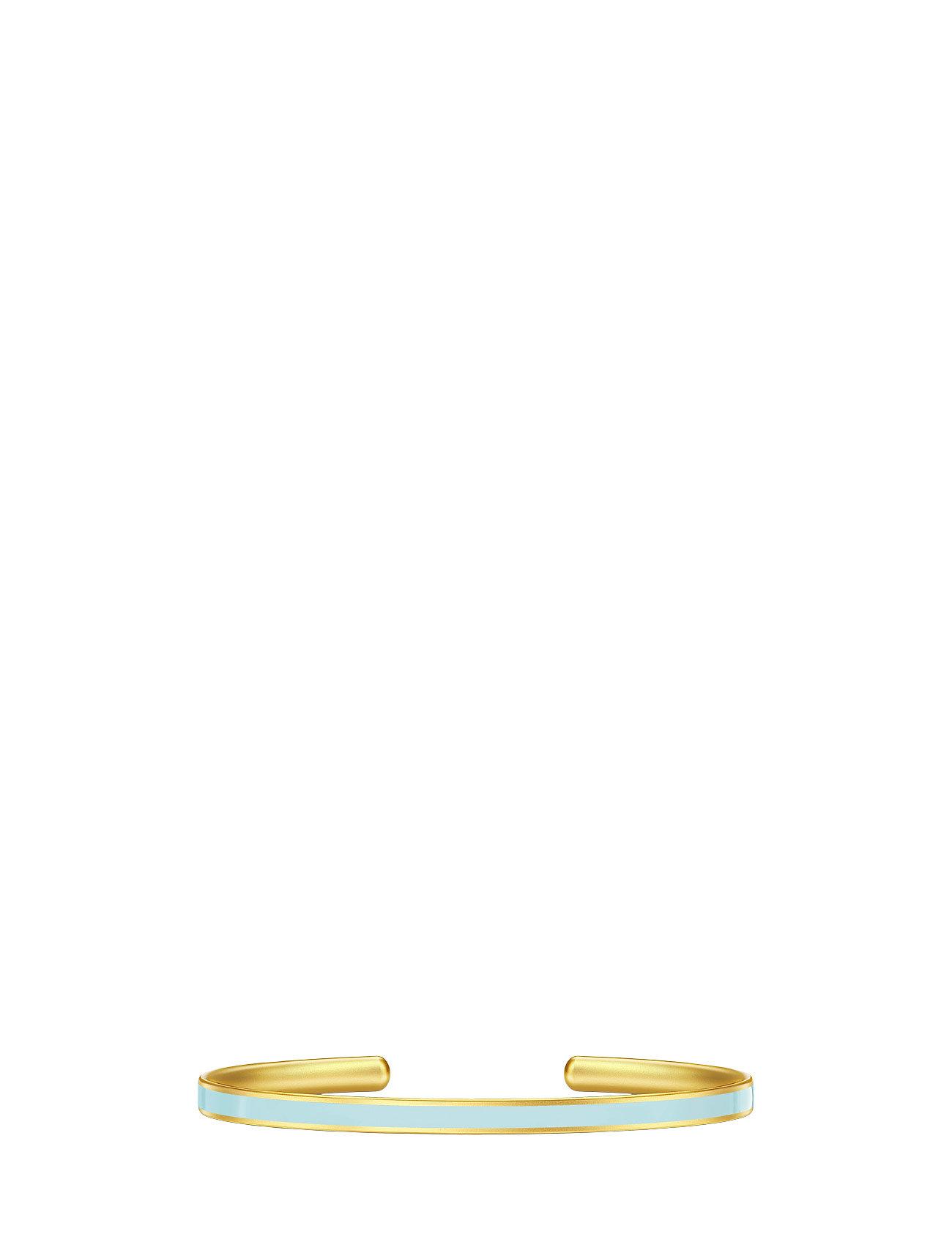 Aya Bangle - Gold/Light Blue Julie Sandlau Smykker til Damer i Blå