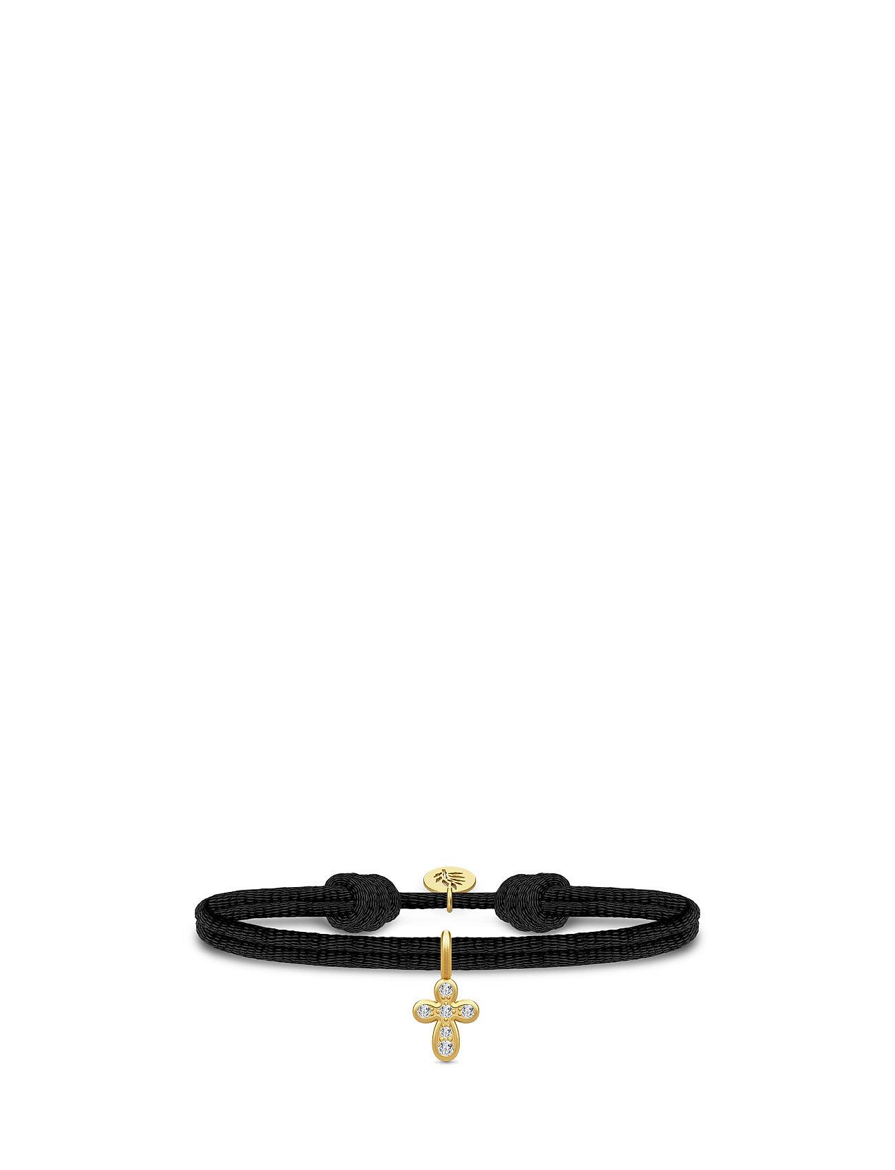 Life Satin Bracelet - Gold/Cubiz Zirconia Julie Sandlau Smykker til Damer i Sort