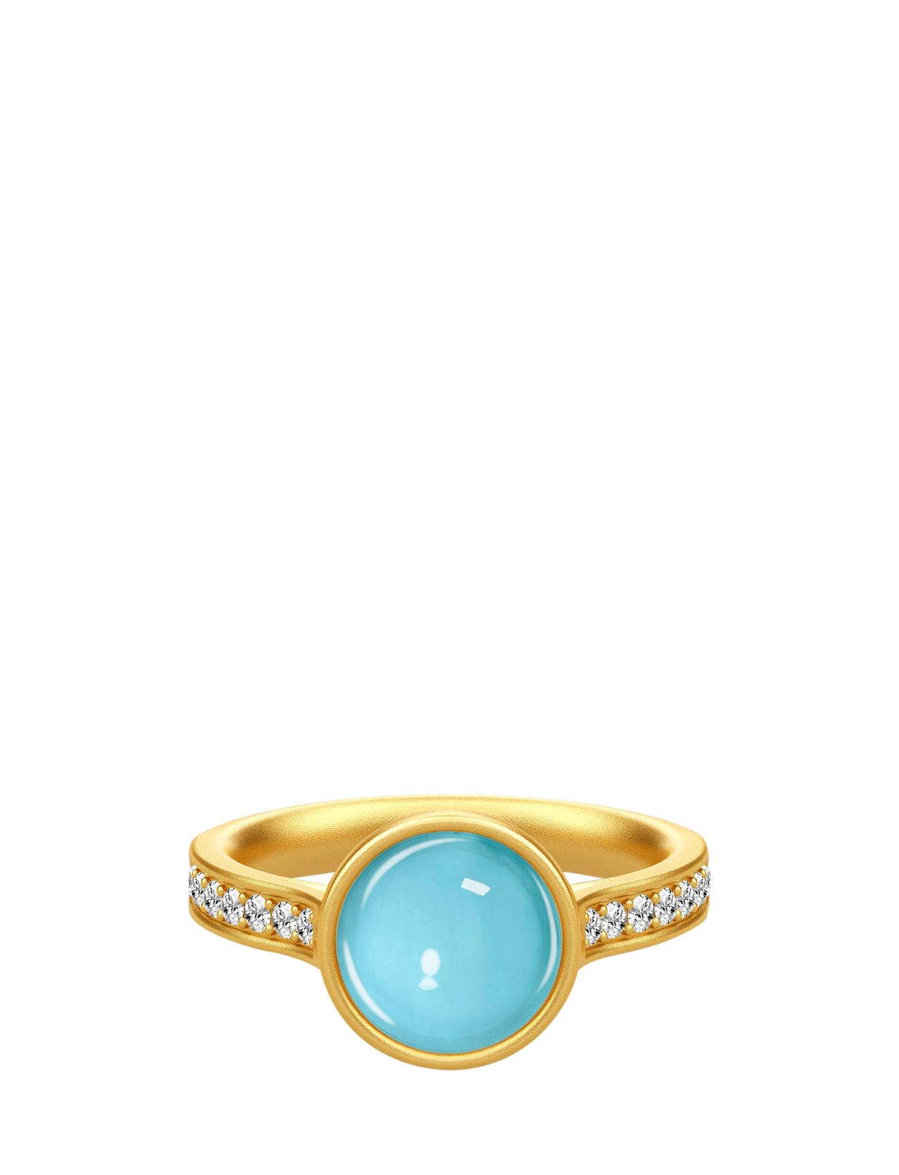 Aurora Ring 52 - Gold/Blue Julie Sandlau Smykker til Kvinder i Rose
