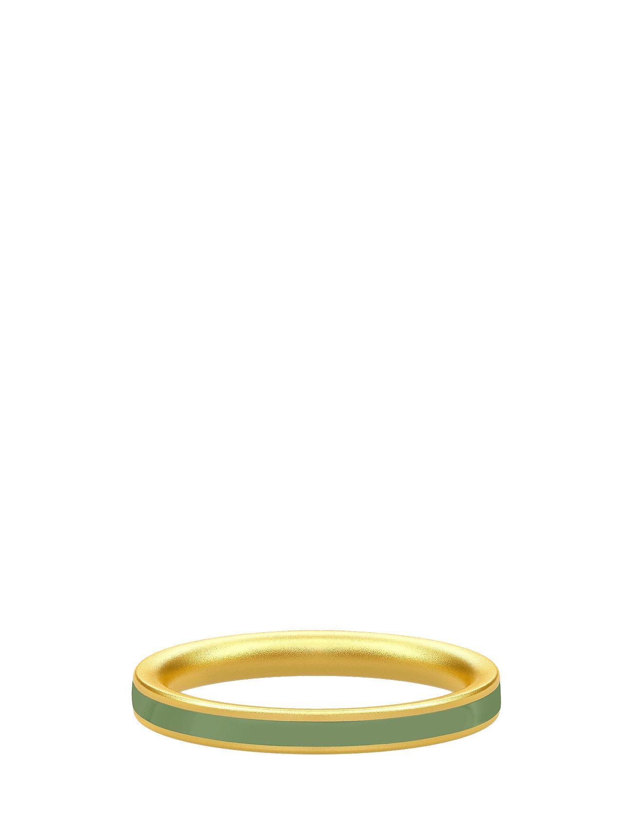 Aya Ring Gold/Dusty Green Julie Sandlau Smykker til Damer i Grøn