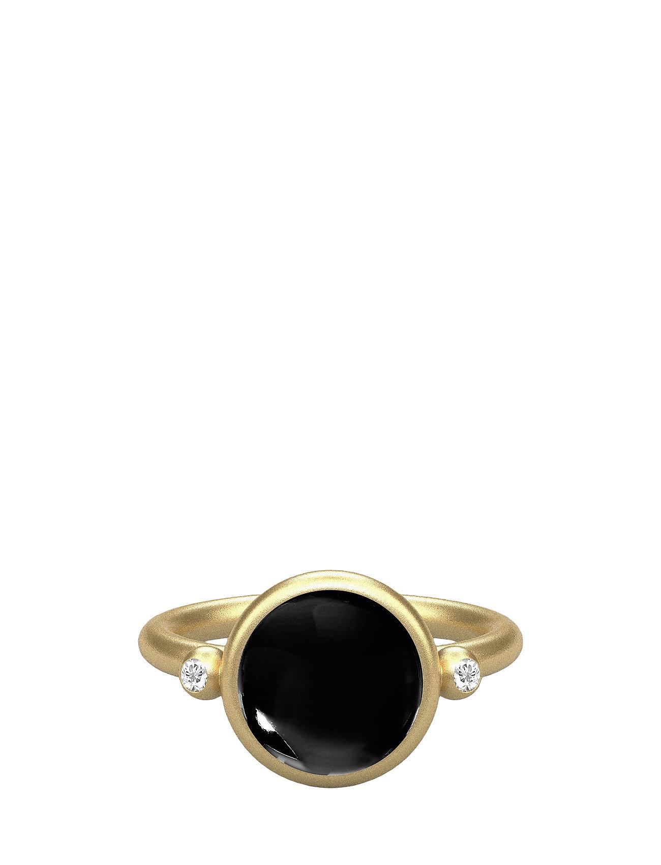 Prime Ring -Gold/Black Onyx Julie Sandlau Smykker til Damer i Sort