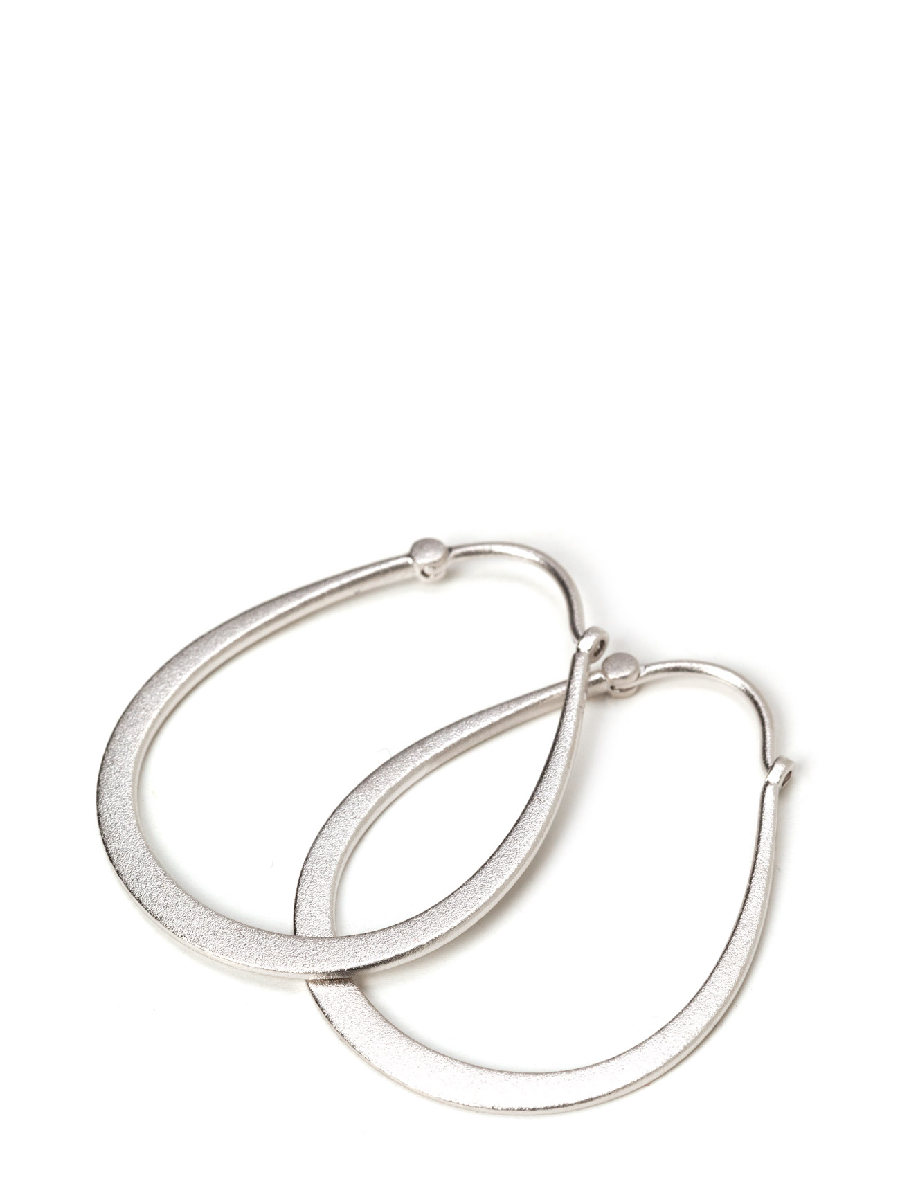 Classic Pear Hoop Earring - Rhodium Julie Sandlau Smycken