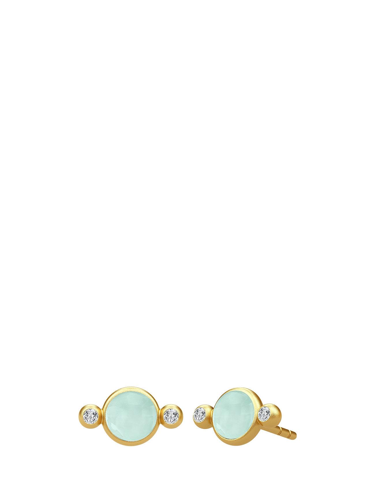 Prime Earring - Gold/Peony Chalcedony Julie Sandlau Smykker til Damer i Grøn