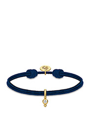 Charity bracelet Navy - Gold - NAVY BLUE