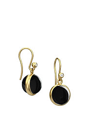 Prime Earring - Gold/Black Onyx - BLACK