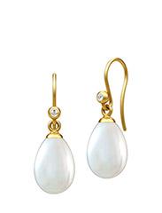 Afrodite earring  - Gold - PEARL WHITE