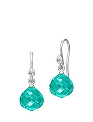 Joy Earring - Rhodium - GREEN