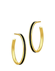 Aya Hoop - Gold/Black - BLACK