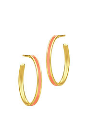 Aya Hoop - Gold/Coral - ORANGE
