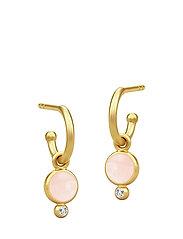 Prime Earring - Gold/Milky Rose - ROSE