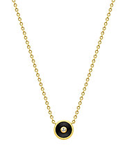 Iris Necklace - Gold/Black - BLACK
